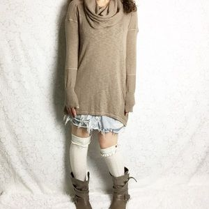 Anthro | Ruby Moon Cowl Neck Tunic Sweater Dress